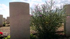 Suda Bay World War II Cemetery in Crete Stock Footage