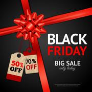 Poster Of Black Friday Sale - stock illustration