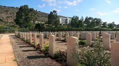 Suda Bay World War II Cemetery in Crete - stock footage