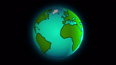 Planet Earth rotating and zooming, 4K animation Stock Footage