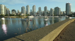 False Creek Anchorage, Yaletown, Vancouver Stock Footage