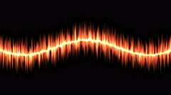 Audio Sound Sine Wave Animation - Loop Red - stock footage