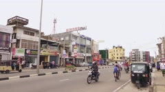 Sri-Lanka Galle streets Stock Footage