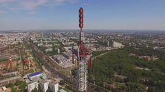 Aerial of a Telecommunication Tower 5 Stock Footage