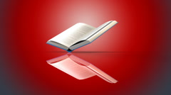 Book red background Stock Footage