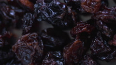 Stock Video Footage of Grape raisins extreme macro close up rotating