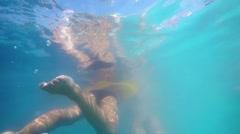GOPR0310KidUnderwaterSwimRingInflamableSlow HD Stock Footage