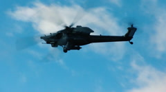 Military helicopter in air - stock footage