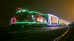 CP Rail Christmas Holiday Train Stock Footage