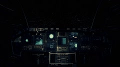 Spaceship Cockpit in a Pilot Point of view Traveling on a Speed of Light Stock Footage
