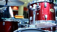 The Drummer Drums. Stock Footage