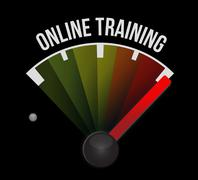 Stock Illustration of Online Training meter sign concept