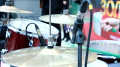 Acoustic Drum Set Stock Footage