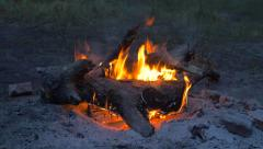 Camp Fire Background Seamless Loop - stock footage