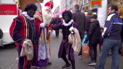 St Nicholas and Black Pete Stock Footage