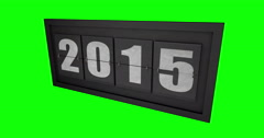 2015 2016 Board Change On Green Stock Footage