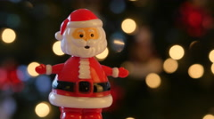 Toy Santa Claus Figure Doll Stock Footage