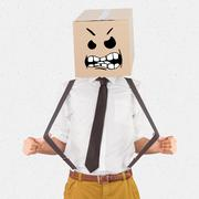 Composite image of anonymous businessman - stock photo