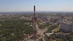 Aerial of a Telecommunication Tower 7 Stock Footage