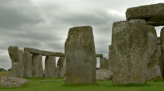 views of the Stonehenge - stock footage