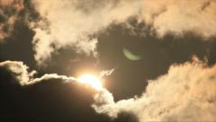 Bright sun in clouds Stock Footage