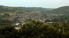 View of the English country town Stock Footage