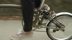 Foot of a cyclist pedaling Stock Footage