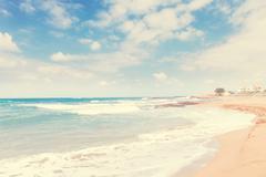 Malia beach, Crete, Greece Stock Photos