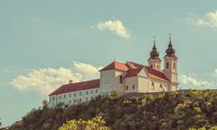Benedictine abbey in Tihany, Hungary - stock photo