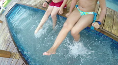 Legs water splashing SLOW MOTION Stock Footage