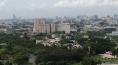 View to the cityscape of Santo Domingo, Dominican Republic. Stock Footage