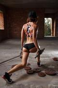 Sexy athletic woman Stock Photos