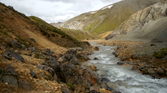 A small river in Landmannalaugar Stock Footage