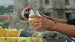A glass of beer Stock Footage