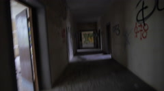 Stock Video Footage of Escaping POV into abandoned building