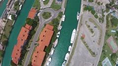 Aerial Drone Marina Hemingway Stock Footage