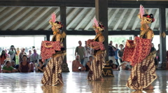 Dancers preforming Javanese traditional dance Stock Footage