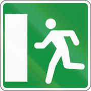 Slovenian road sign - Emergency escape on the left Stock Illustration
