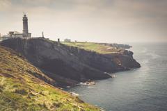 """Lighthouse of """"Cabo Mayor"""". Santander. Spain Stock Photos"""