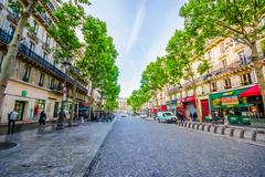 Beautiful sightseeing of the streets in Paris, France Stock Photos