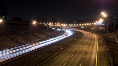 freeway busy city rush hour heavy traffic jam highway, Timelapse of driving - stock footage