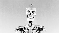 Human skull. Terminator. Negative. Electroshock. Stock Footage