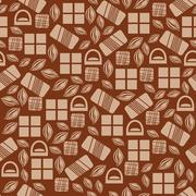 Seamless pattern with chocolate sweets isolated on white background Stock Illustration