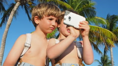 Boys Taking Selfie With Phone - stock footage