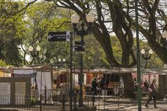 Bartolome Mitre Square in San Isidro Buenos Aires - stock photo