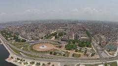 Aerial Havana coast, city sky line,  Cuba Stock Footage
