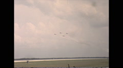 Vintage 16mm film, 1963, Airshow, Thunderbirds airshow #4 - stock footage