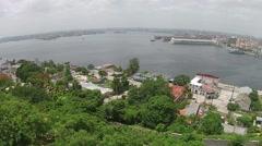 Aerial Drone Havana Port Horizon Stock Footage