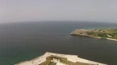 Aerial drone Fort Morro, Castilloe Morro Stock Footage