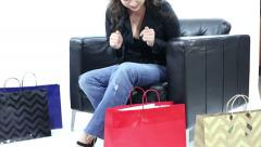 Excited Shopper Stock Footage